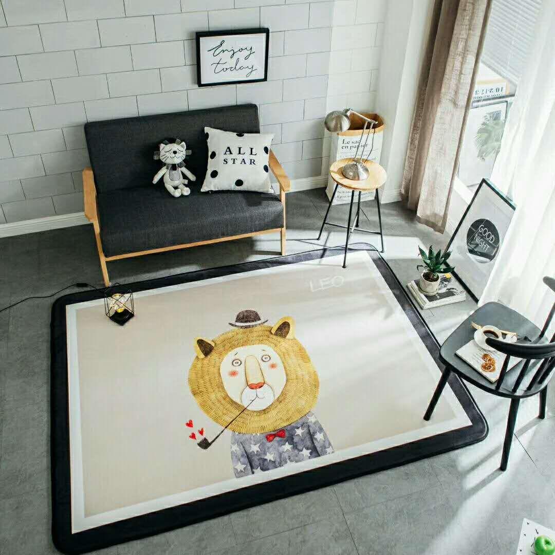 Childrens Kids Fred Lion Floor Rug