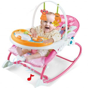 2-IN-1 Infant to Toddler Rocker Dining Chair - Pink