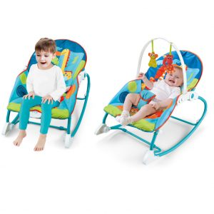 2-IN-1 Infant to Toddler Rocker Dining Chair - Blue