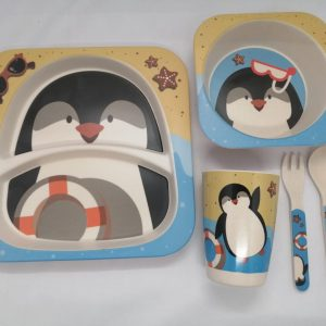 Bamboo tableware - Penguin