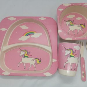 Bamboo tableware - Unicorn with Clouds
