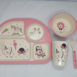 Bamboo tableware - Unicorn with Lion