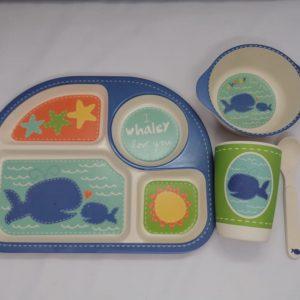 Bamboo tableware - Blue Whale