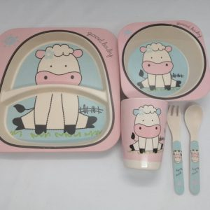 Bamboo tableware - Cow