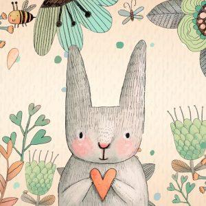 Rabbit Play Mat / Rug / Carpet For Kids Room