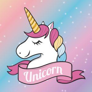 Unicorn Rainbow Play Mat / Rug / Carpet For Kids Room