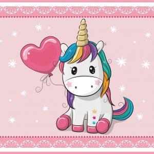 Unicorn Sweetheart Play Mat / Rug / Carpet For Kids Room