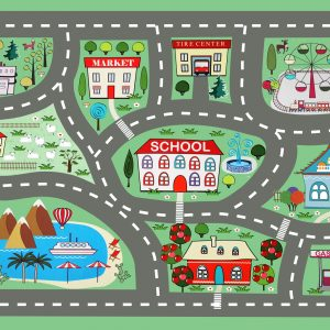 Interactive City Road Play Mat/ Rug / Carpet for Kids Room