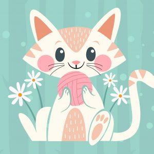 Cute Cat Play Mat/ Rug / Carpet for Kids Room