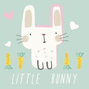 Cute Little Bunny Play Mat/ Rug / Carpet for Kids Room