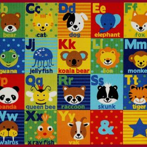 Learn Your Alphabets Play Mat/ Rug / Carpet for Kids Room