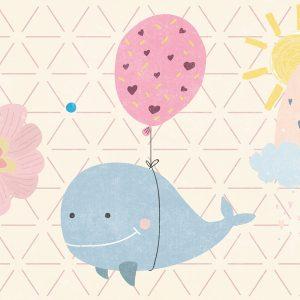 Blue Dolphin Design Play Mat / Rug / Carpet For Kids Room