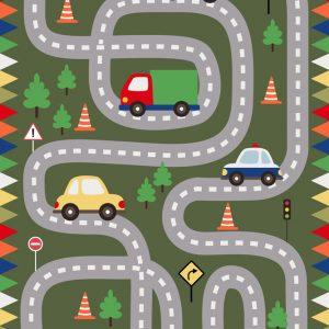 Race Track Play Mat/ Rug / Carpet for Kids Room