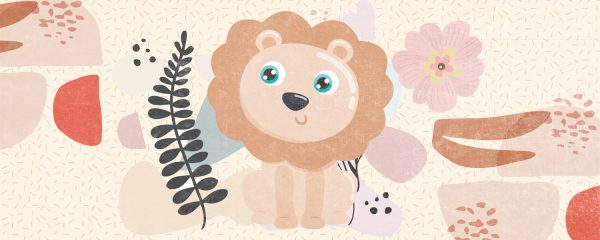 Lion Design 2 Play Mat/ Rug / Carpet for Kids Room
