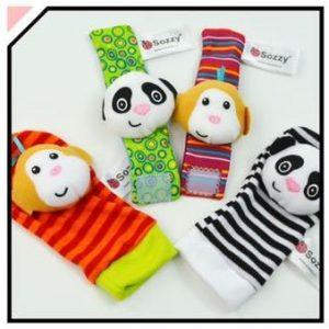 Wrist Rattle and Socks / Foot Finder - Animal Design A