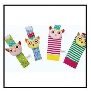 Wrist Rattle and Socks / Foot Finder - Animal Design F