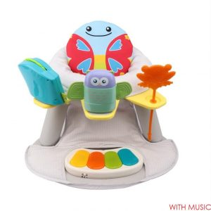 Multicolor Seat with Feeding Table with Piano - Butterfly Design