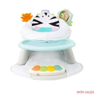 Multicolor Seat with Feeding Table with Piano -Zebra  Design