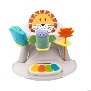 Multicolor Seat with Feeding Table with Piano - Lion Design